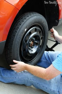 Car Series Spare Tire How To Change The Tire Two Twenty One