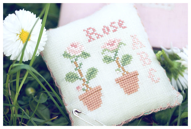 "From ""Rose Sampler"" (""Little House Needleworks"")"