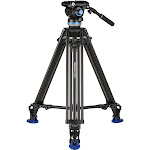 Benro A673TM Dual Stage Aluminium Video Tripod S8PRO Head - 75mm Bowl, 3-Leg Sections, Twist Lever-Lock