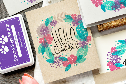 Yippee for Yana: Quick Stamp Wreath Cards - Simon Says Stamp Blog