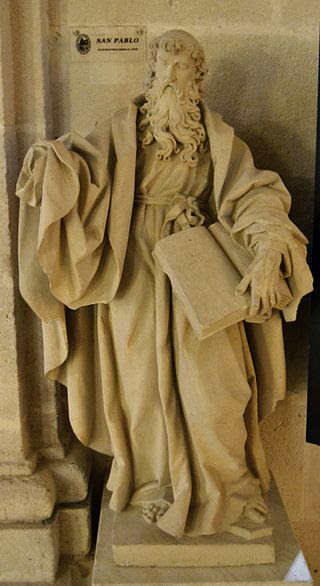 Escultura de sant Pau de Joan Baptista Borja, cocatedral de sant Nicolau, Alacant.JPG
