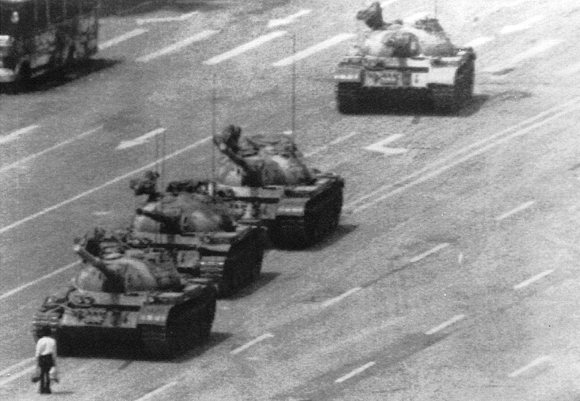 L'immagine simbolo della rivolta di Tienanmen