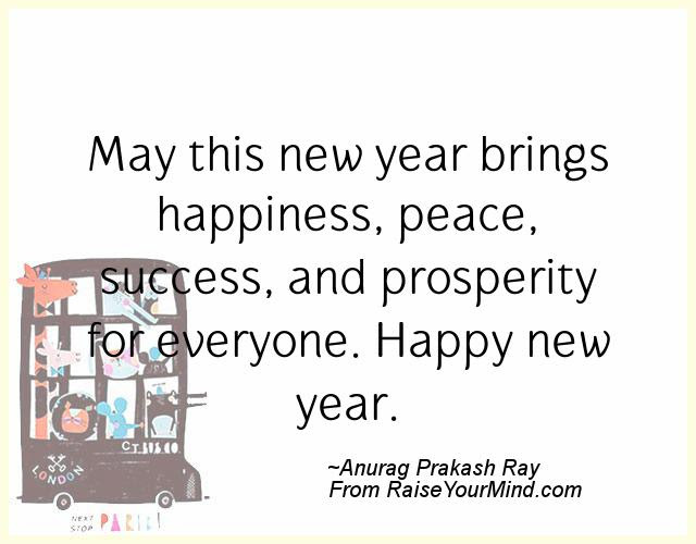 Happiness Quotes May This New Year Brings Happiness Peace