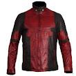 Ryan Reynolds Deadpool 2 Red Waxed Fashion Genuine Leather Jacket Cosplay Costume