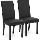 Best Choice Products Studded Parsons Dining Chairs, Black - 2 count