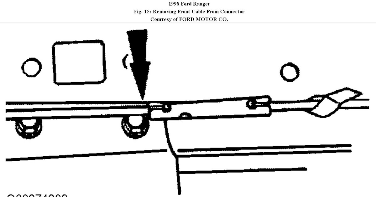 Ford Ranger Parking Brake Cable Diagram