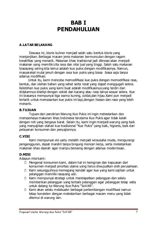 Contoh Proposal Usaha Roti Bakar Doc Berbagi Contoh Proposal