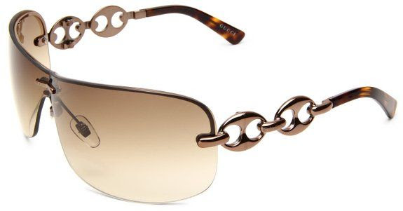 Gucci Women's 2772/S Wrap Sunglasses,Chocolate Frame/Brown Grey Gradient Lens,One Size