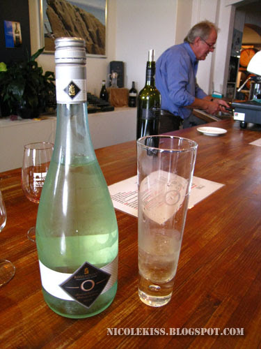 O rosemount sparkling wine and glass