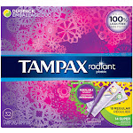 Tampax Radiant Plastic Unscented Tampons - 32 count