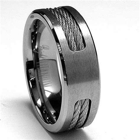 Amazon.com: 7 MM Titanium ring Wedding band with Stainless