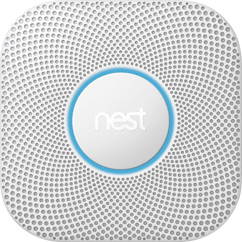 Nest Protect (2nd Generation) Smoke & Carbon Monoxide Alarm - Wi-Fi/Bluetooth 4.0 LE/802.15.4 - Android/iOS - White