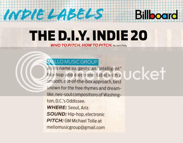 Mello Music Billboard Mention