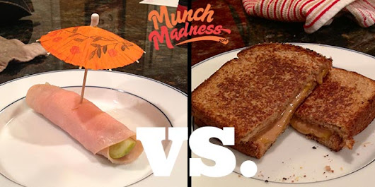 Munch Madness 2014: Round 1, Match 3: Turkey Pickle vs. Peanut Butter Grilled Cheese, by Jack Walsh | Knuckle Salad