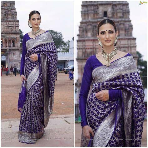 Designer Shilpa Reddy channeling a Classic Vintage Saree