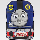 "Thomas & Friends 14"" Quilted Mini Kids' Backpack - Blue, Kids Unisex, Black"