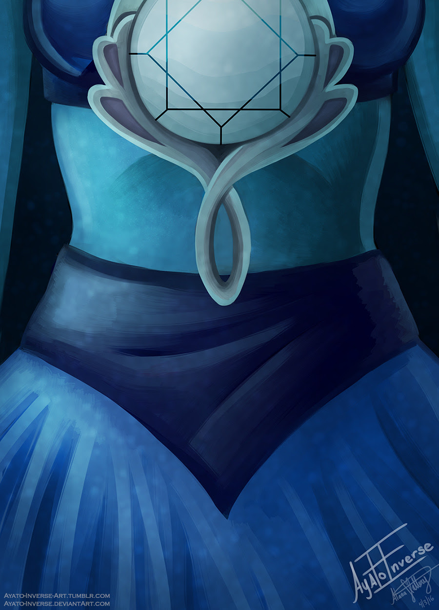 """"""" -Lapis Lazuli- by Ayato-Inverse """" Another Lapis painting! It's nice to finish something that isn't related to school work! You can get prints of her and more on Redbubble!"""