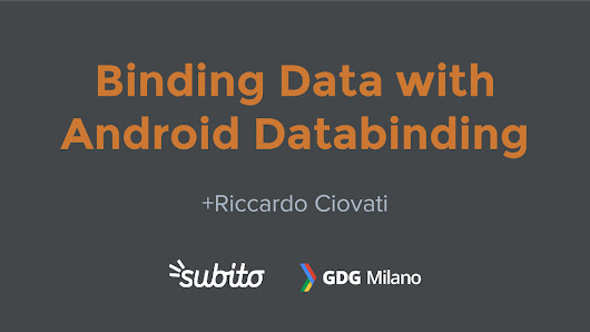Binding Data with Android Databinding