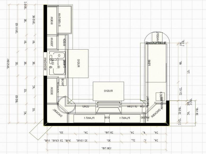 U shaped kitchen floor plans  Hawk Haven