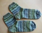 Green-Blue Socks Size 5-6 1/2 (UK)