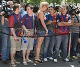 FC Barcelona Players arriving at Rome