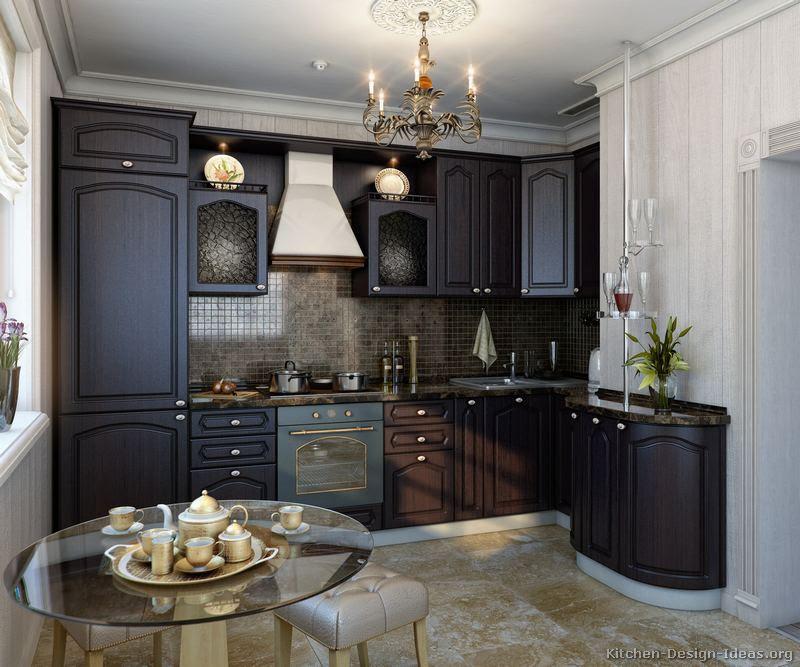 Pictures Of Kitchens Traditional Dark Espresso Kitchen Cabinets
