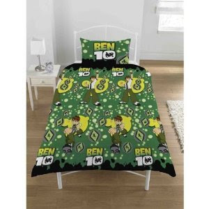 Kids/Childrens Ben 10 Bedding Set Duvet Cover and Pillow Case (Single