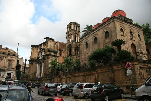 San Cataldo (right) and Martorana (middle-left)