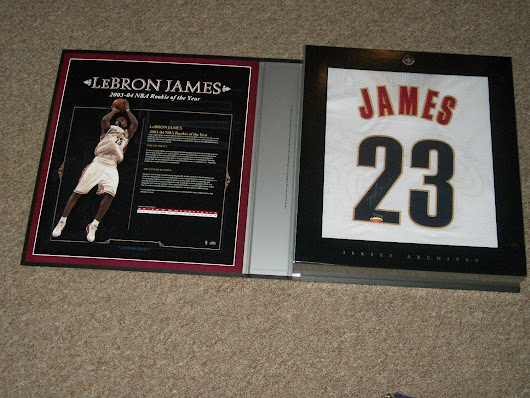Lebron James LE 03-04 UDA Rookie of the Year autographed Jersey