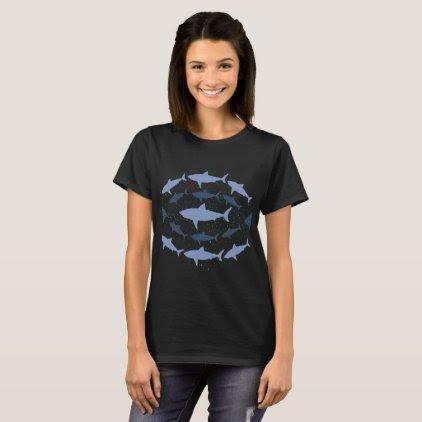 Megalodon Shark Marine Biology Art T-Shirt