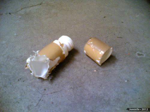 Geocaching: Contentor Micro destruído