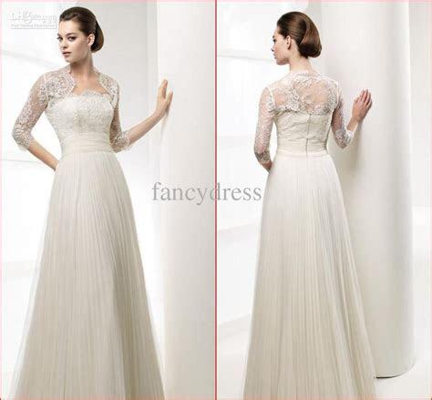 a line empire waist wedding dress with sleeves   Google