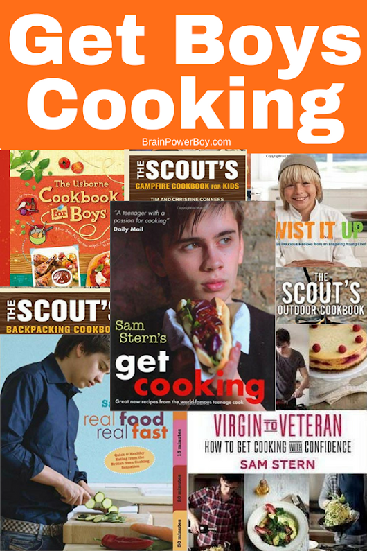 Cookbooks for Boys (that will actually get boys interesting in cooking!)