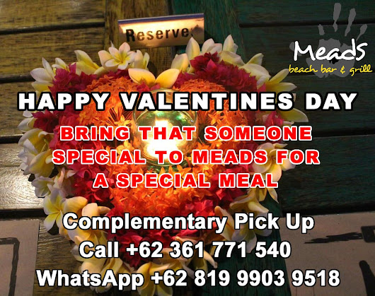Happy Valentines Day from Meads in Bali | Meads Beach Bar & Grill