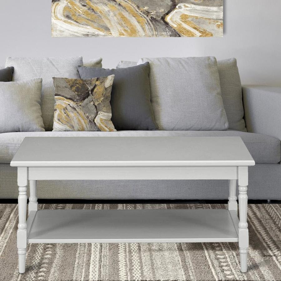 Casainc Solid Wood Coffee Table With Storage Gray Wood Coffee Table In The Coffee Tables Department At Lowes Com