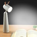 LED Desk Lamp,Portable Eye Protection Table Light with Warm Light,Rechargeable Beside Reading Light