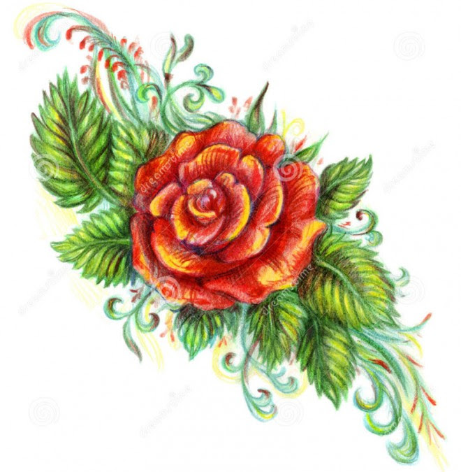 Beautiful Flower Rose Drawing Clip Art Library