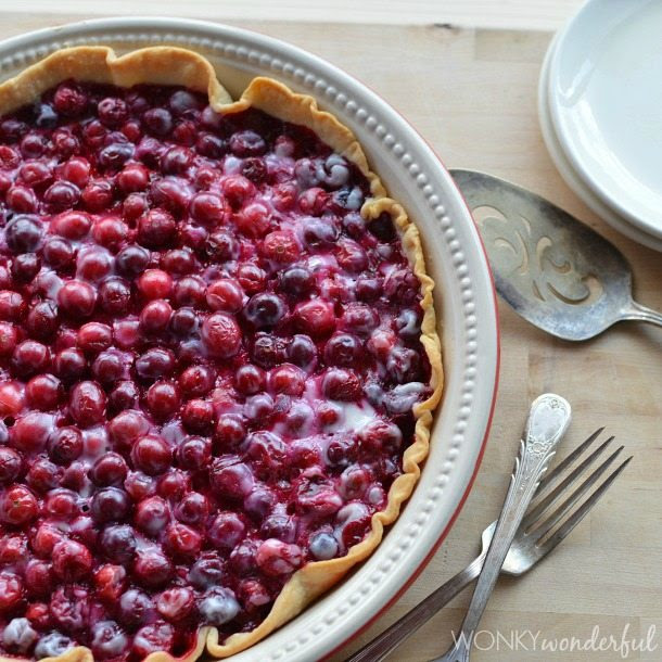 Creamy Cranberry Pie | Wonky Wonderful