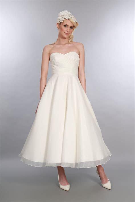 Elizabeth Tea Length 1950s Inspired Wedding Gown by