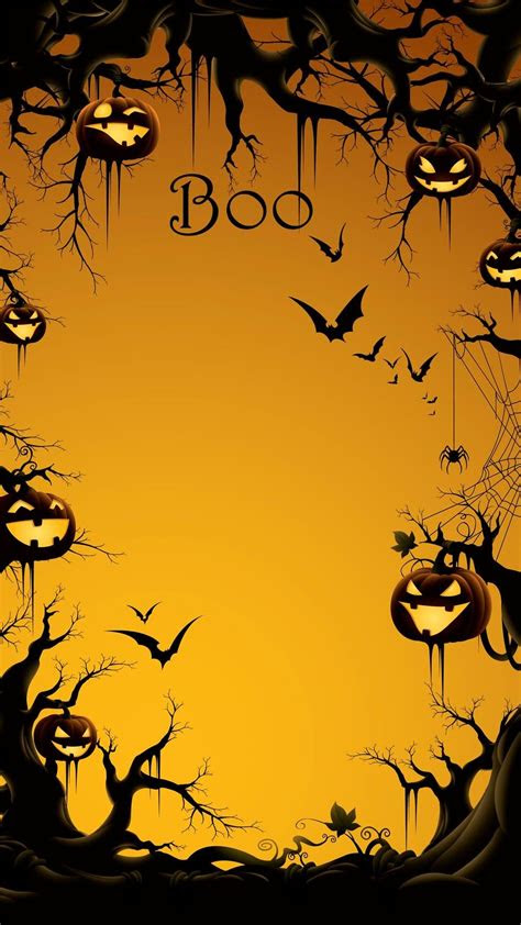 boo halloween iphone   wallpaper  pumpkin