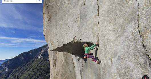 Google's first vertical Street View lets you climb Yosemite in the comfort of home