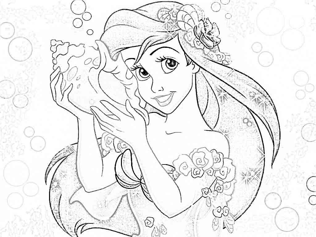 Disney Ariel Coloring Pages at GetDrawings   Free download