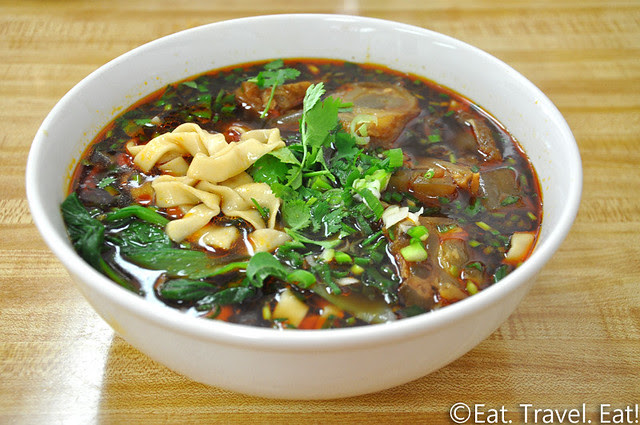 Flavor Garden- Alhambra, CA: Flavor Beef Tendon Noodle (Thick Noodles)