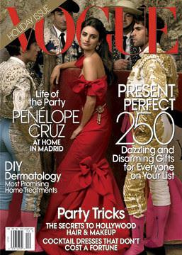 Penélope Cruz y toreros. Portada Vogue