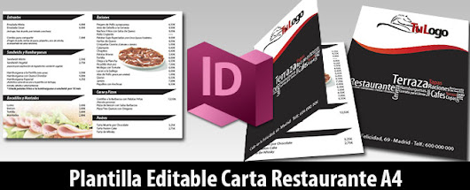 Descarga Plantilla Editable Carta Bar Restaurante A4 | Magical Art Studio