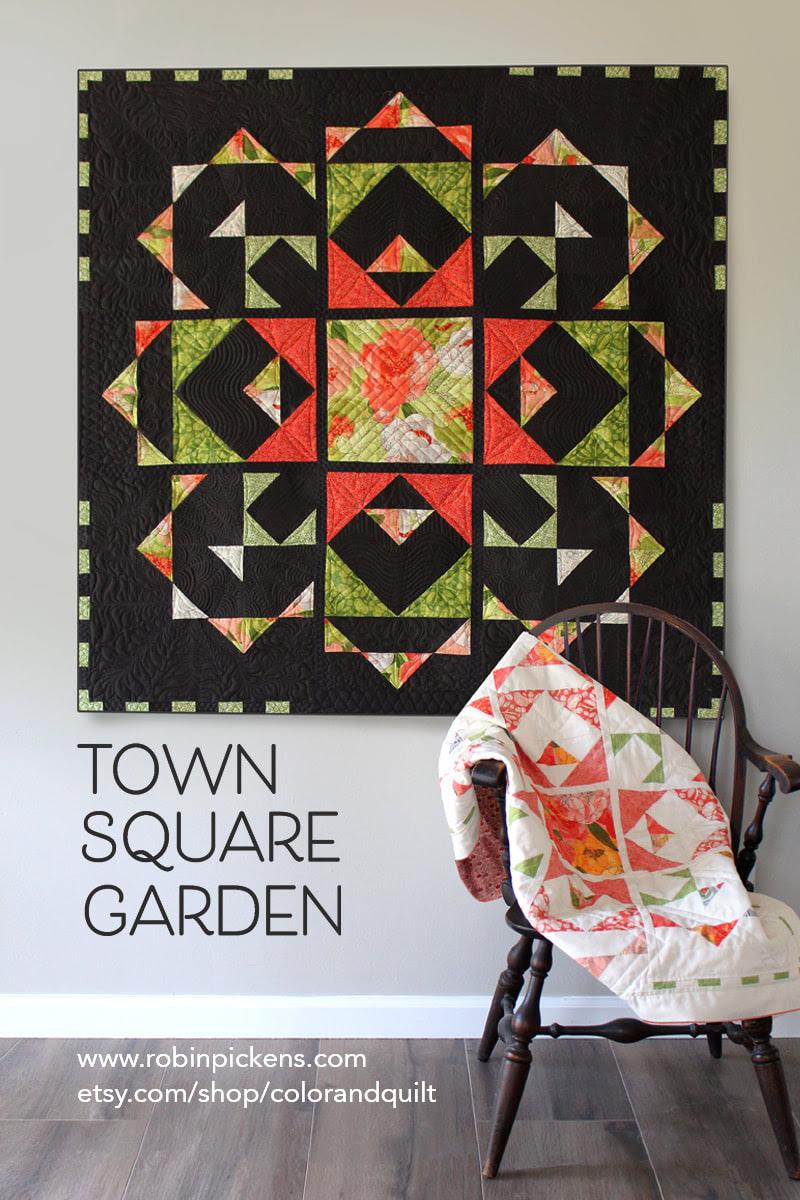 Town Square Garden Quilt Pattern - Robin Pickens