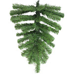 """22"""" Green Pine Teardrop Artificial Christmas Swag - Unlit by Christmas Central"""