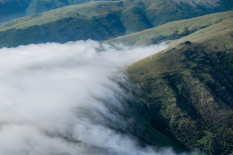 Clouds drifting into Akaroa