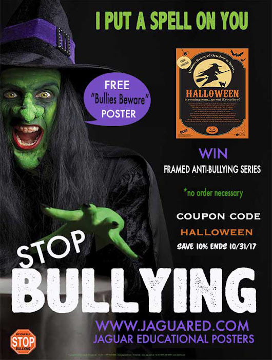 Bullying is scary! Take back your classroom with this new Anti-Bullying Halloween Poster Series