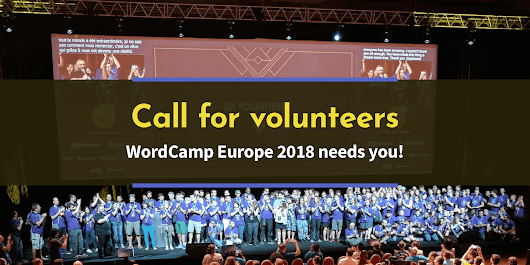 #WCEU 2018 Call for Volunteers